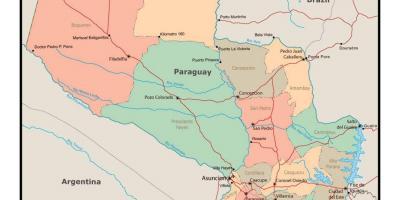 Paraguay Kartta Kartat Paraguay Etela Amerikka Amerikka